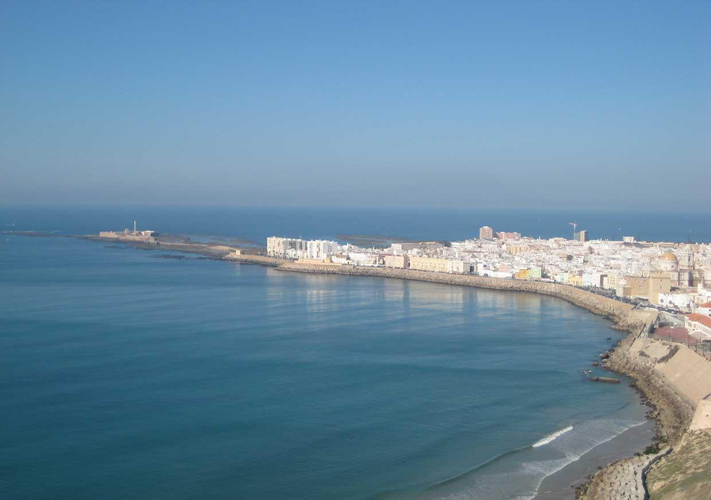 Vista aérea del faro de Cádiz